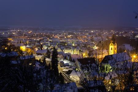 The Bavarian City Schwandorf in Winter photo