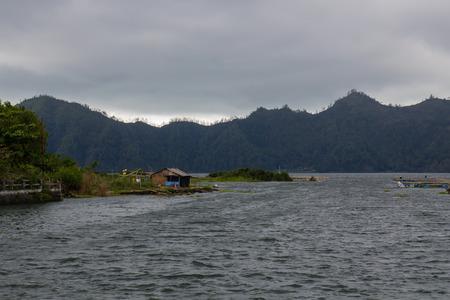 The Batur lake on Bali, Indonesia photo