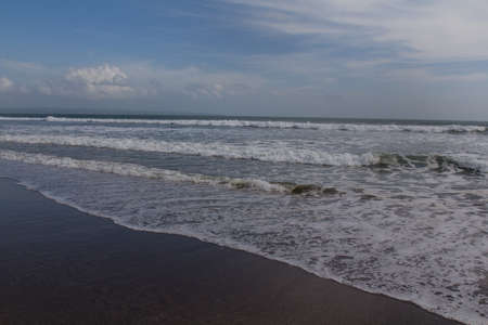 The Seminyak Beach on a sunny day photo