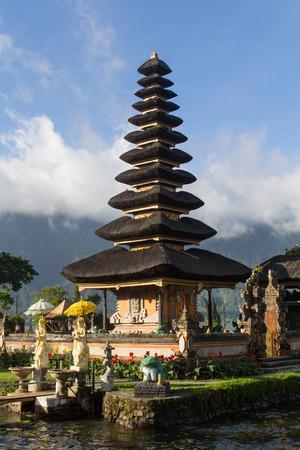 danu: Pura Ulun Danu temple on a lake Beratan. Bali