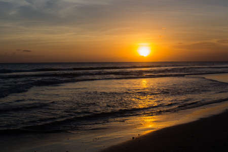 Sunset at Seminyak Beach on Bali � Indonesia photo