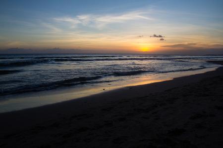 seminyak: Sunset at Seminyak Beach on Bali Indonesia