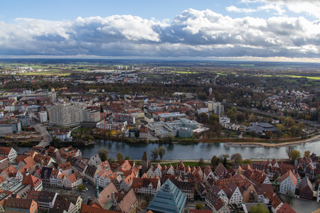 Ulm, Germany. View from the top of Ulm Minster, the worlds tallest church photo