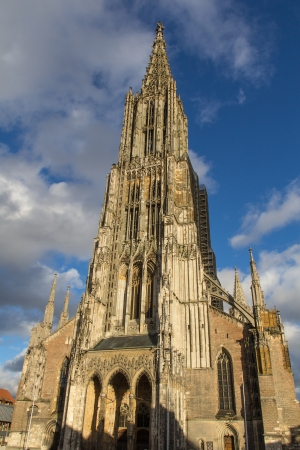 The Cathedral of Ulm in Germany on a sunny day in autumn photo