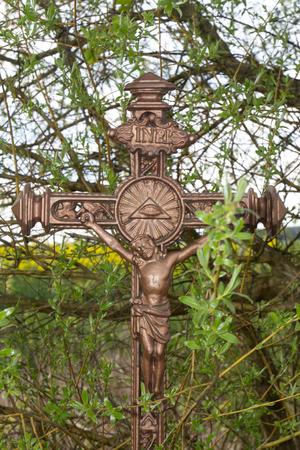 crux: a crux out of bronze Stock Photo
