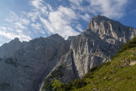 kaiser: Hiking in Austria, Wilder Kaiser Mountains Stock Photo