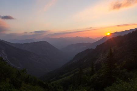 kaiser: Sunset in Austria, Wilder Kaiser Mountains