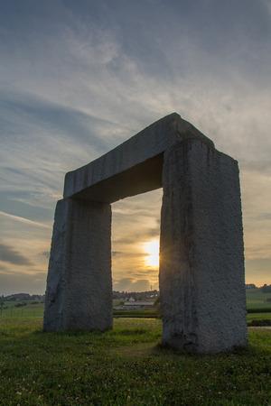 the little stonehenge next to Kulz in bavaria photo