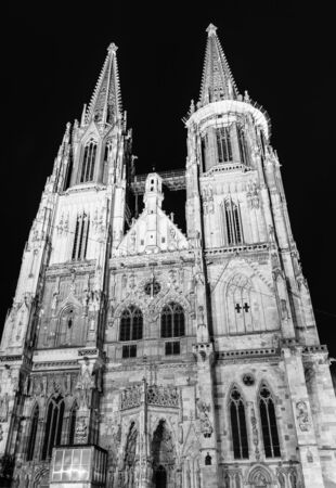 The Cathedral of Regensburg in Bavaria at night photo