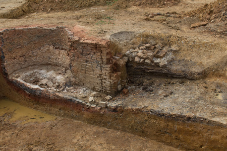 excavation of an old oven next to Schwandorf in Bavaria photo