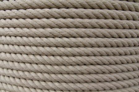 furled: rope furled on a big cylinder