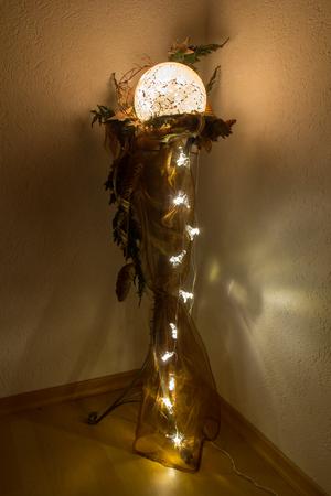 christmas decoration with nice lights photo