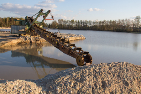 gravel pit: a gravel pit at the lake Klausensee next to Schwandorf in bavaria
