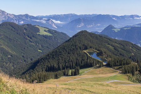 fuegen: Beautiful mountain landscape next to Fuegen in the Zillertal in Austria, F?gen