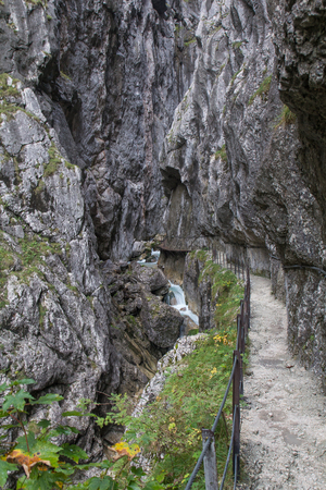 detritus: Walking thorugh the Hoellental at the Zugspitze in Germany