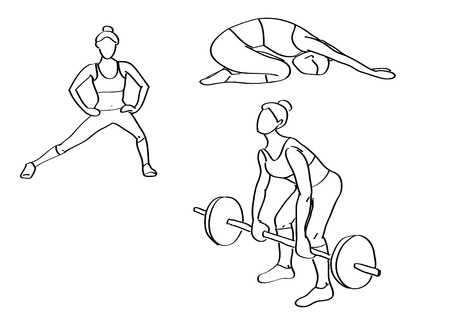 abductor: Fitness illustrations