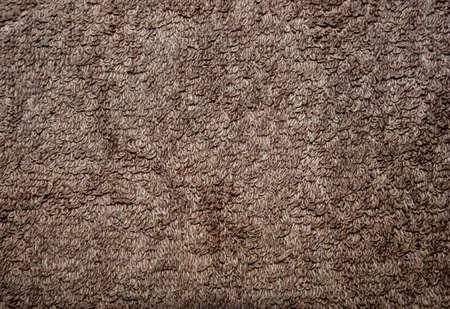 ブラウン繊維背景、平らな茶色テリー織タオル パターン