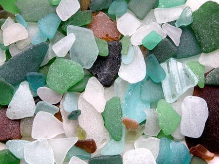 カラフルなつや消しガラス石バルト海、リトアニアから 写真素材