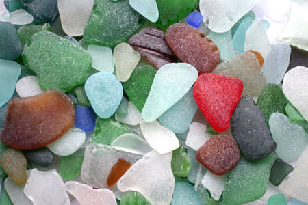 Colorful matted glass stones from Baltic sea, Lithuania