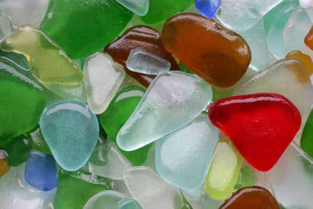 バルト海リトアニアからカラフルなつや消しガラス石