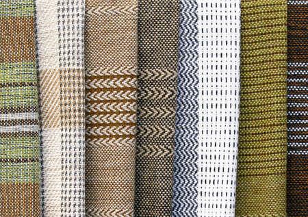 完全なフレームの背景、伝統的な手織りのウール生地 写真素材