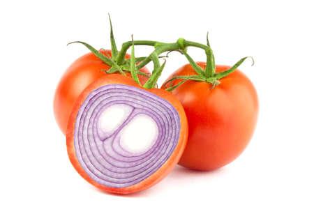 内部の赤玉ねぎスライス トマトの操作イメージ