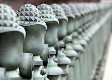 Decorative metal railing at Imperial Palace in Tokyo, Japan