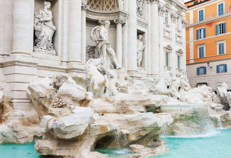Trevi fountain in Rome, Italy, famous baroque landmark, daytime picture, no people 写真素材