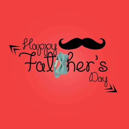 Happy Fathers Day. illustration. June 16th Sunday