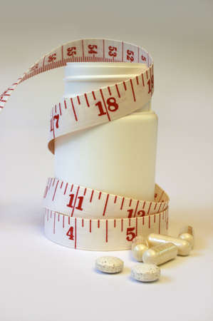 Dieting With Pills Stock Photo