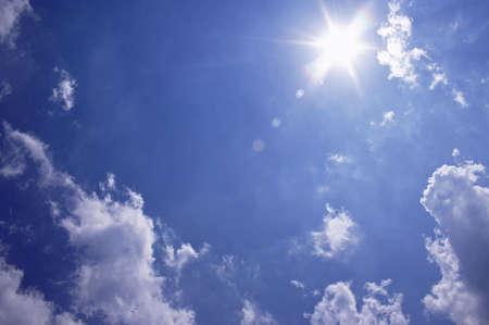 mediodía: Cielos soleados en el High Noon  Foto de archivo