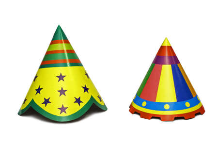 Party Hats - Isolated on white background Stock Photo