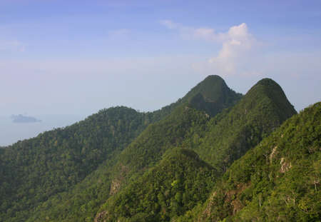 langkawi: 600 million year-old mountains on the tropical island of Langkawi, Malaysia