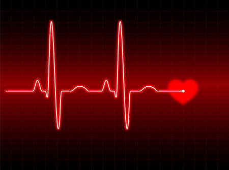 electrocardiogram: Illustration of an electrocardiogram (ECG) #2. See my portfolio for more.