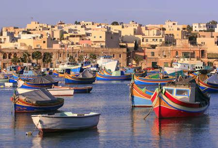 malta: Colorful, traditional fishing boats of Marsaxlokk village, Malta (#2) See portfolio for more.