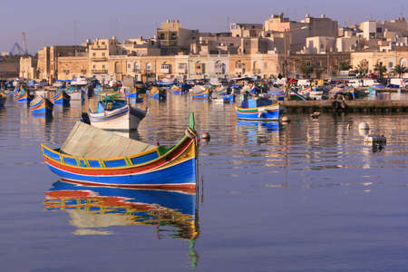 Colorful, traditional fishing boats of Marsaxlokk village, Malta (#4) See portfolio for more.  photo
