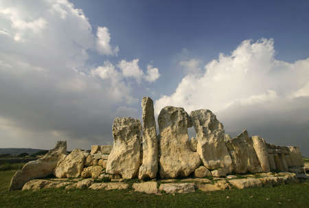 Megalithic Temples of Hagar Qim, A UNESCO site in Malta Stock Photo