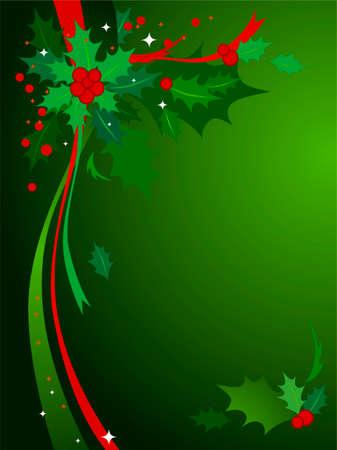 tide: Navidad Holly Fondo # 3-Verde y rojo de fondo con temas de Navidad de acebo y cintas.