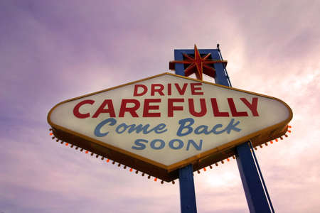 Come Back Soon Las Vegas Sign at Sunset