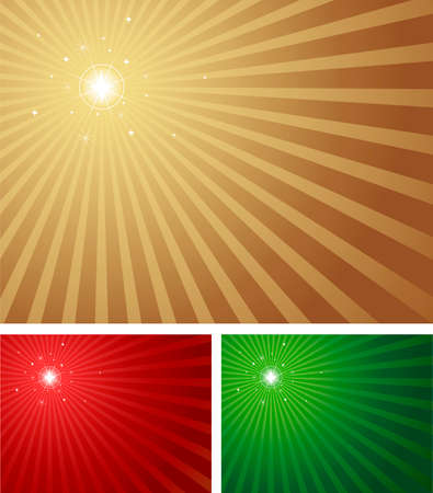 Star shining brightly with a radial background in 3 Christmas colours. Blue version with a centred star also available in portfolio. Vector