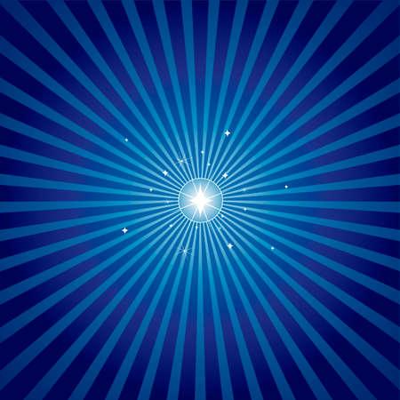 starbursts: Estrella brillante brillantes con un fondo en azul radiales. Off centrado en las versiones de la estrella de Navidad en colores disponible tambi�n en mi cartera.