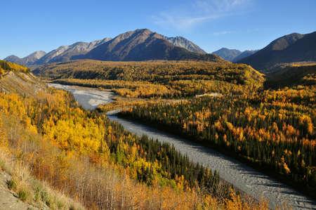 silt: Chugach Range Stock Photo