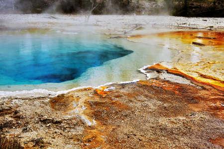 sulfur: Sulfur Pool Stock Photo