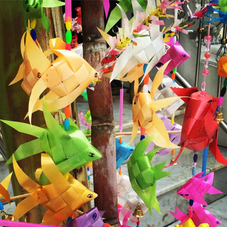 Dangling paper fish Stock Photo - 80067548