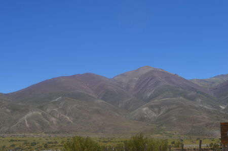 mendoza: High mountains with different colors, The Andes, Province Mendoza, Argentina  Stock Photo