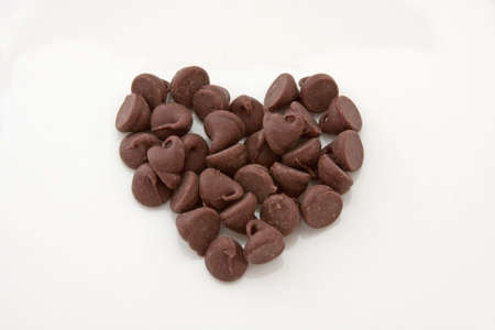 chocolate chips: Chocolate Chips Heart