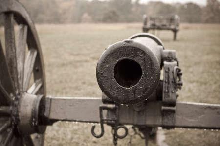 Civil War Cannon in Sepia photo