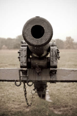 Barrel of Civil War Cannon in Sepia Tones photo