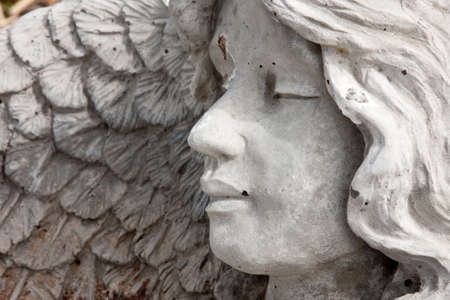 Stone Angel Face and Head in Profile photo