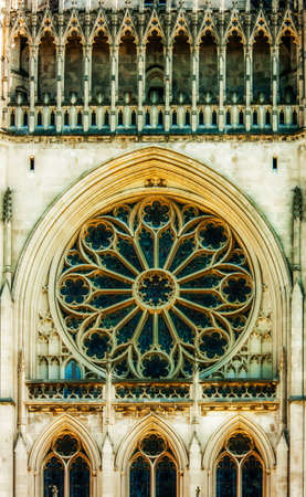 Exterior Window in National Cathedral photo